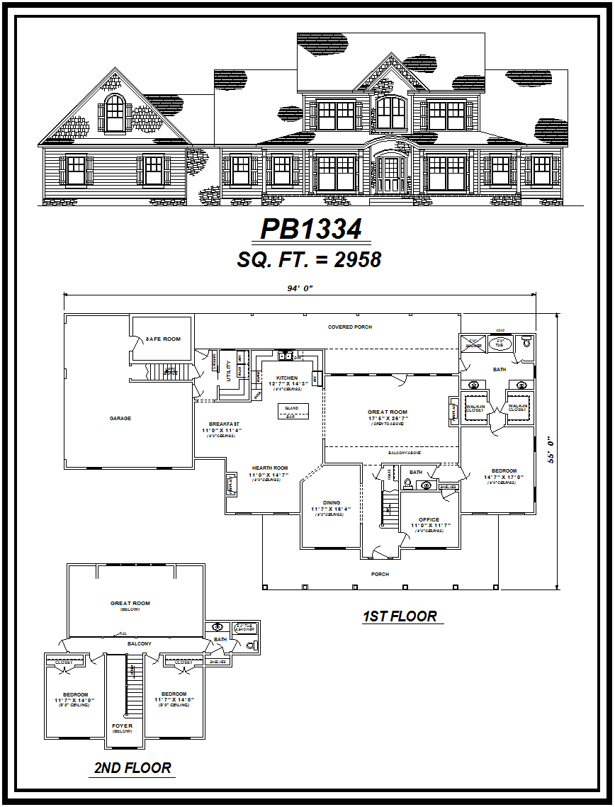 picture of house plan #PB1334