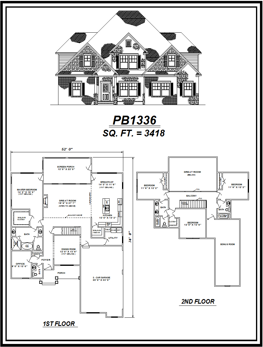 picture of house plan #PB1336