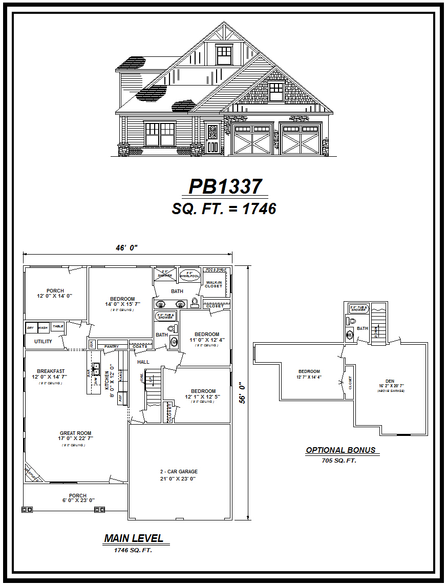 picture of house plan #PB1337