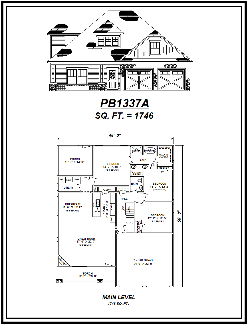picture of house plan #PB1337A