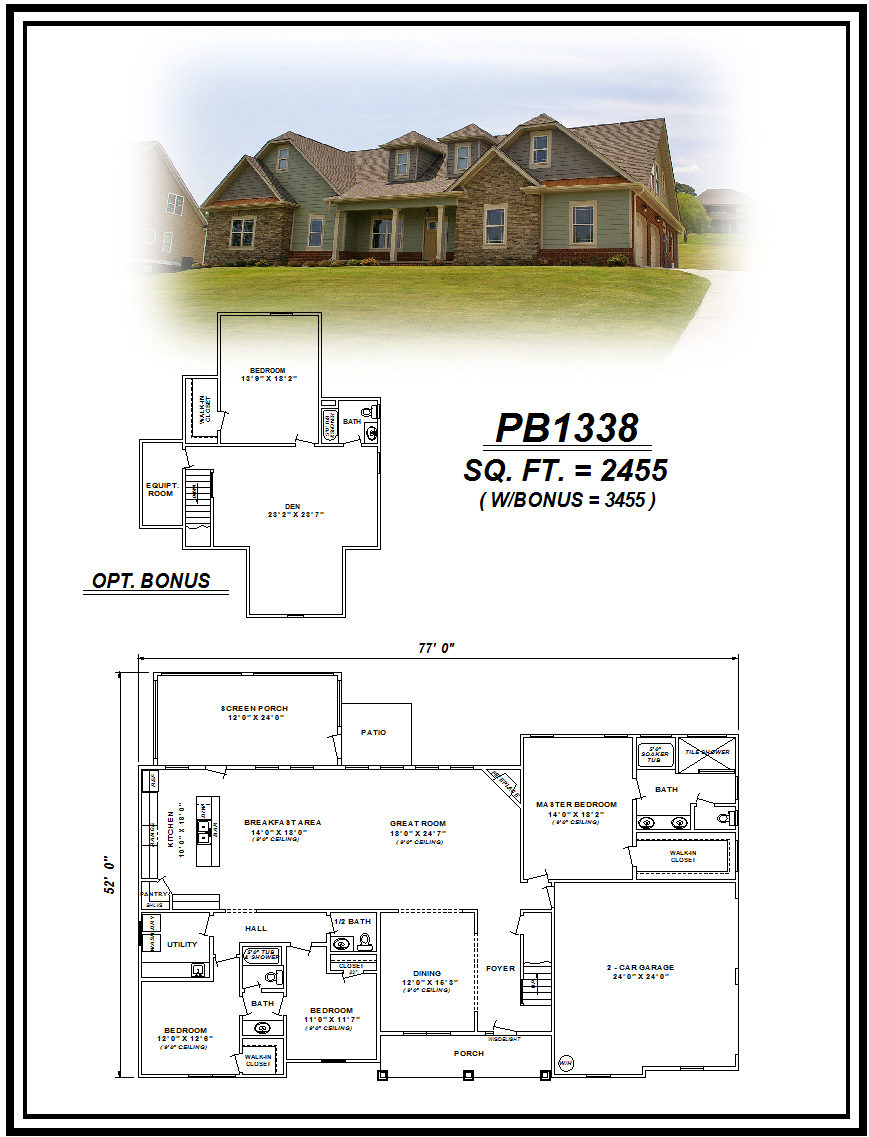 picture of house plan #PB1338