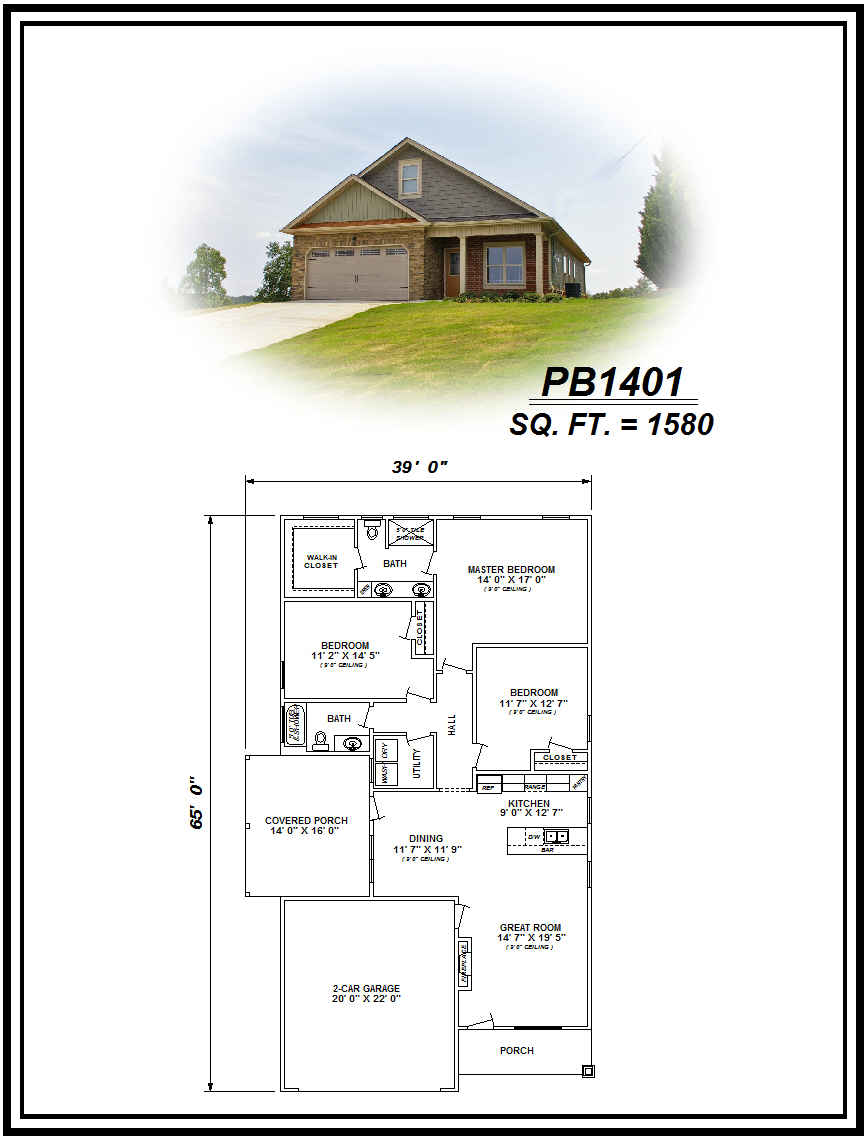 picture of house plan #PB1401