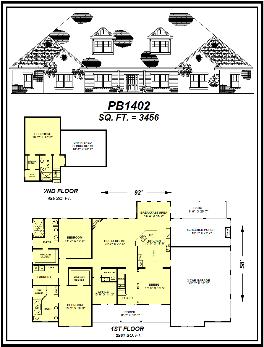 picture of house plan #PB1402