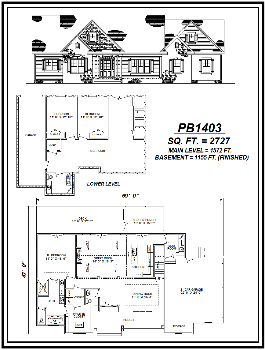 picture of house plan #PB1403
