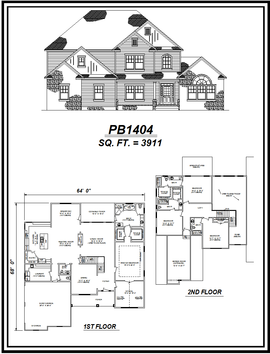 picture of house plan #PB1404