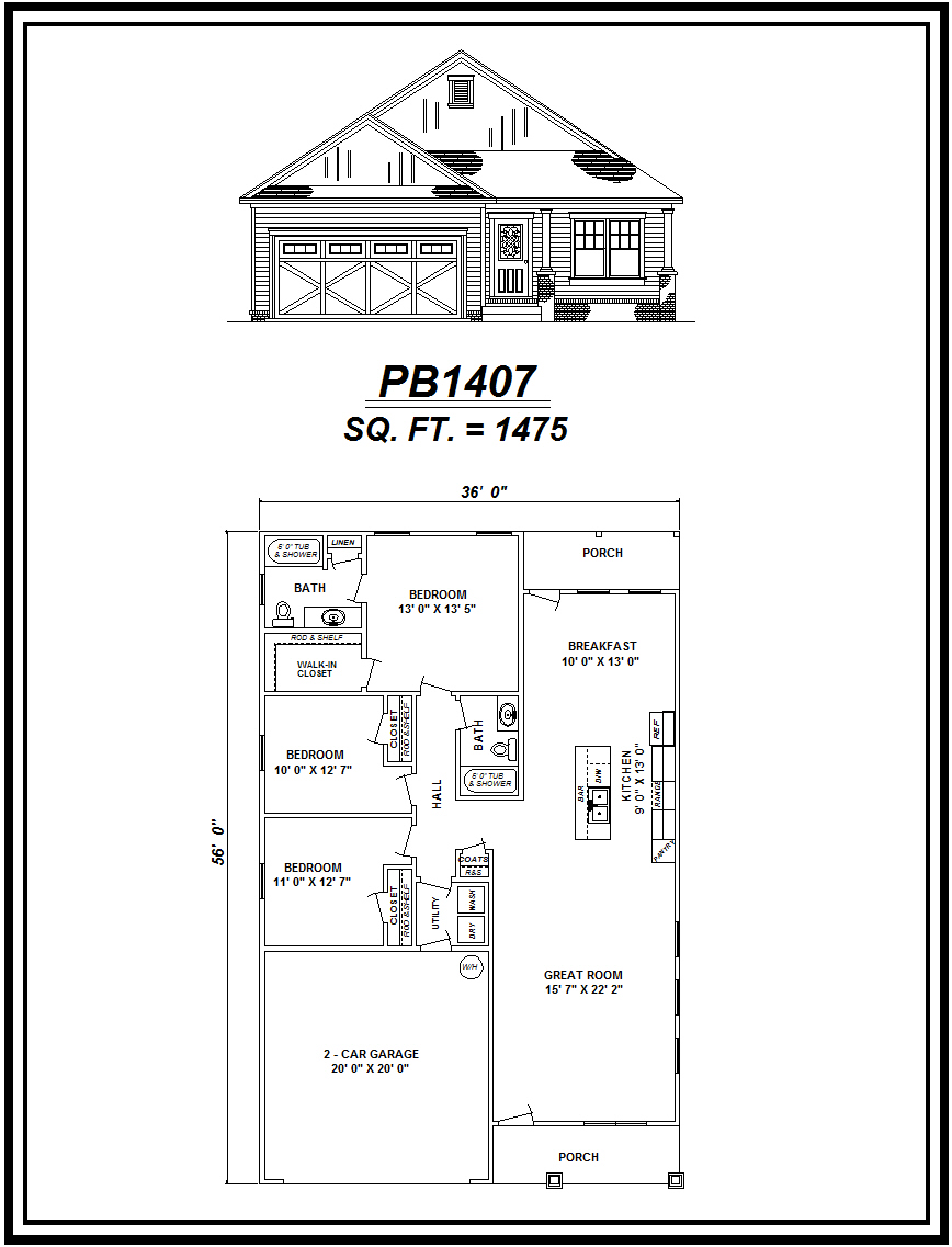 picture of house plan #PB1407