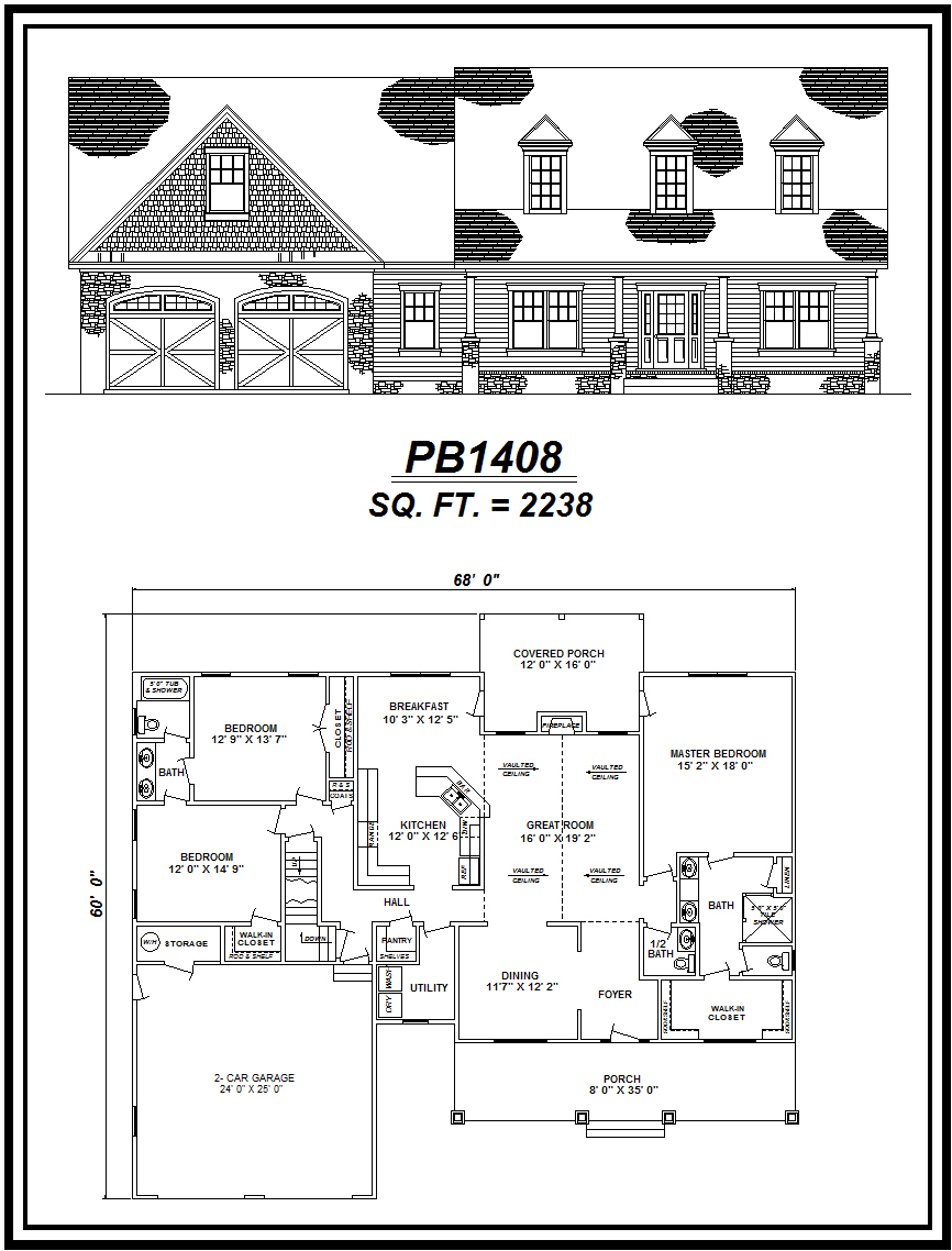 picture of house plan #PB1408