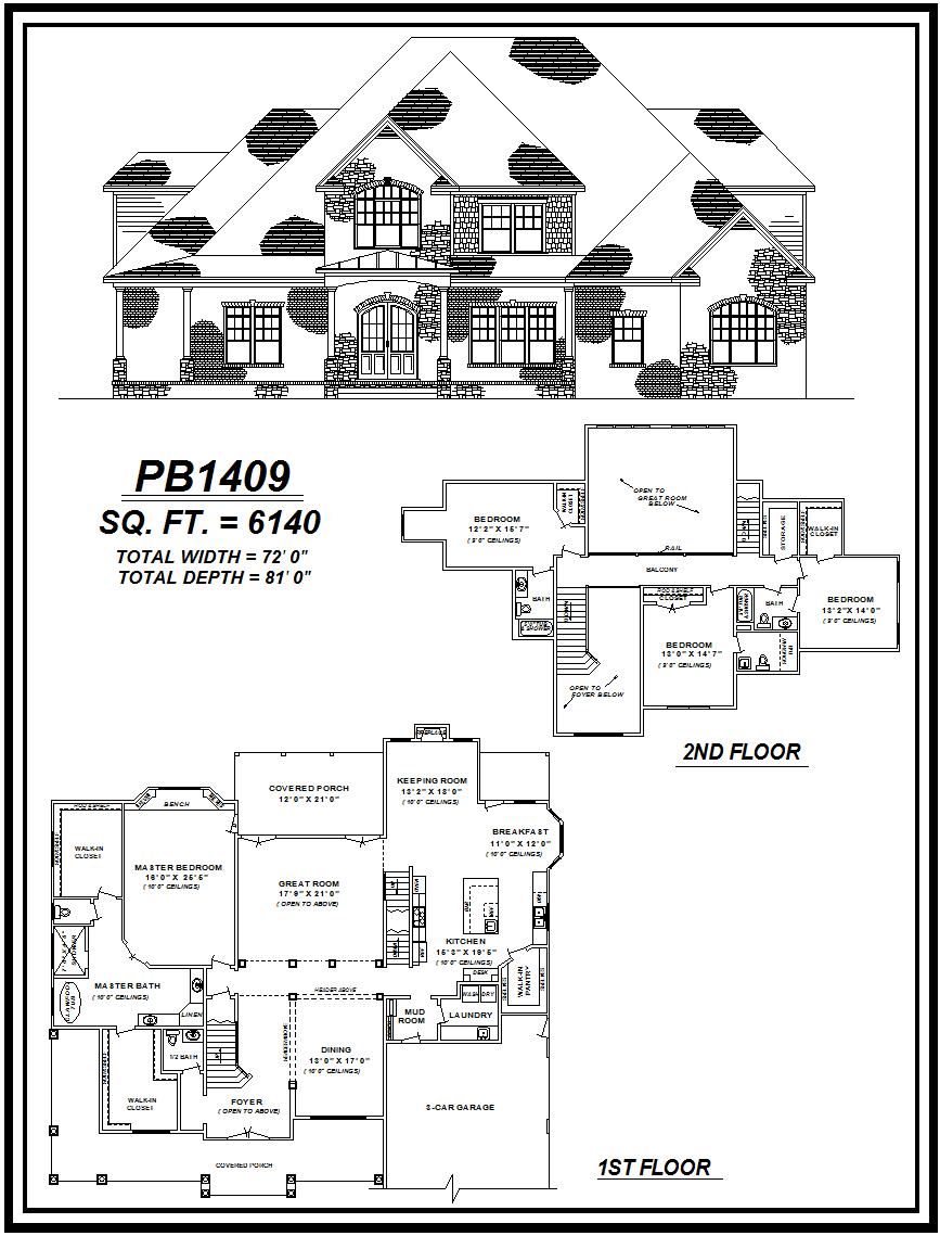 picture of house plan #PB1409
