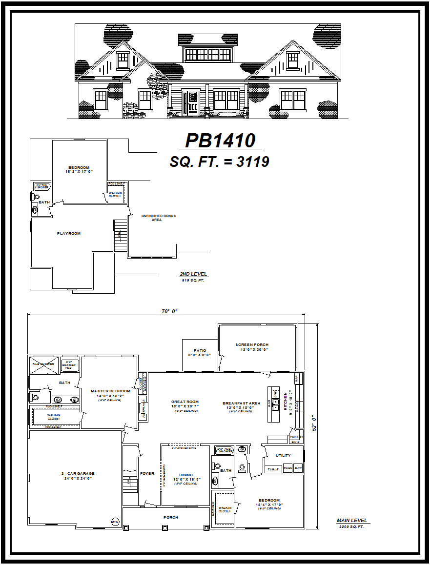 picture of house plan #PB1410