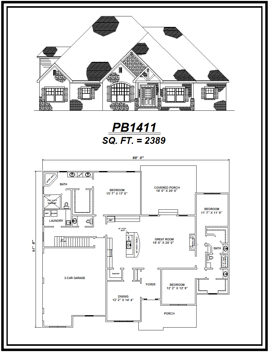 picture of house plan #PB1411