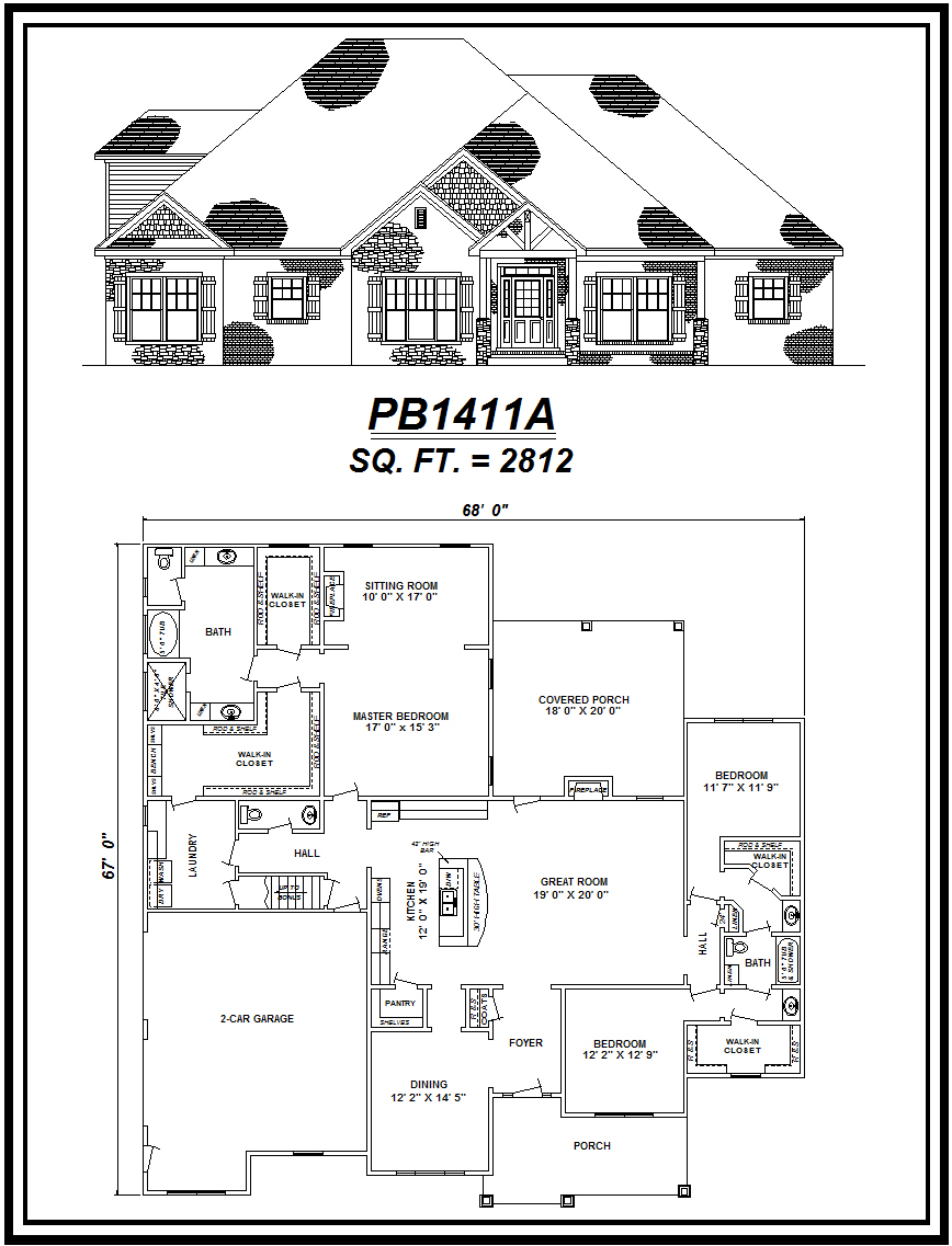 picture of house plan #PB1411A