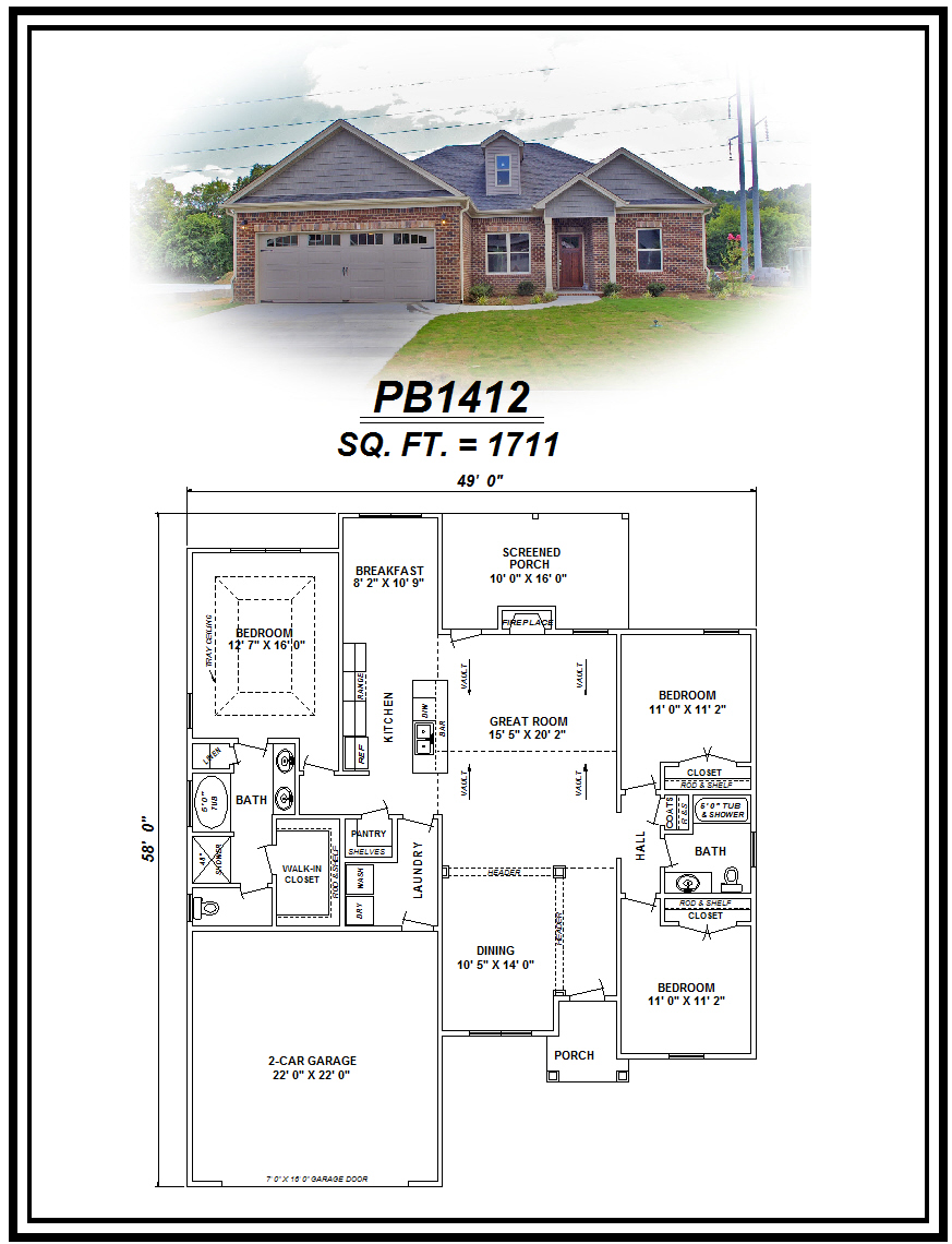 picture of house plan #PB1412