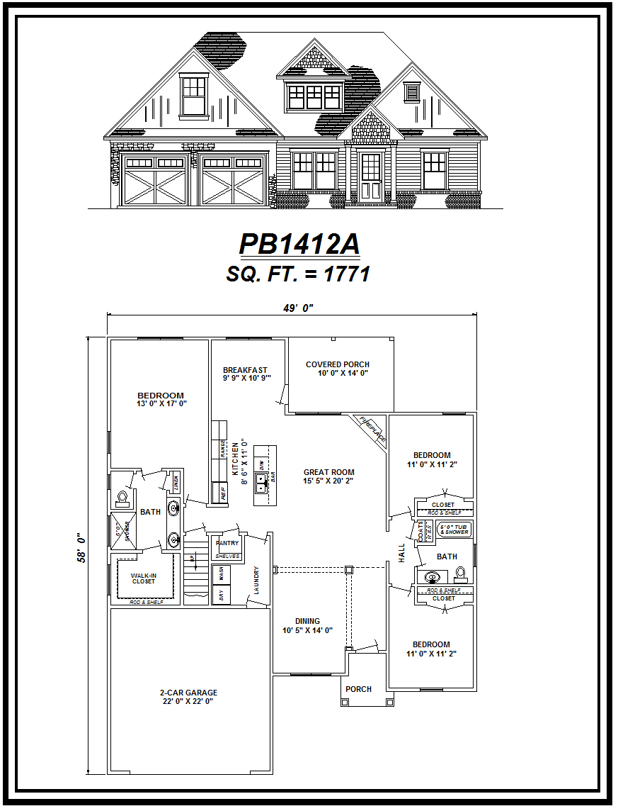 picture of house plan #PB1412A