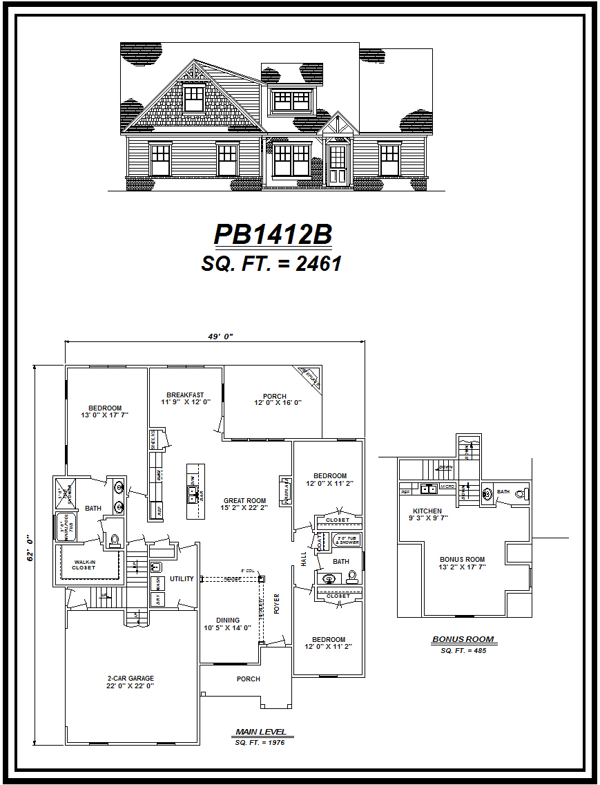 picture of house plan #PB1412B