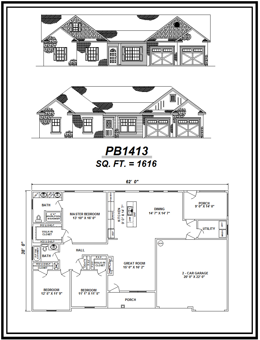 picture of house plan #PB1413