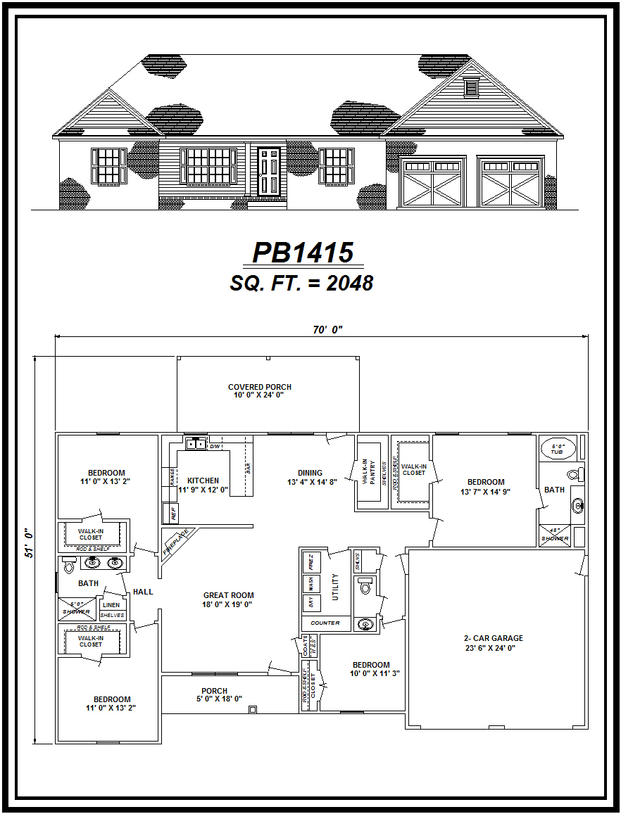 picture of house plan #PB1415