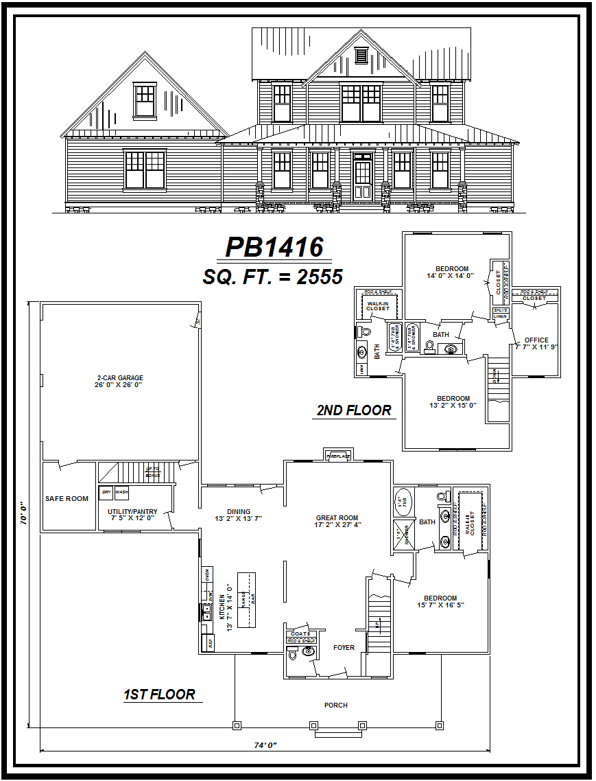 picture of house plan #PB1416