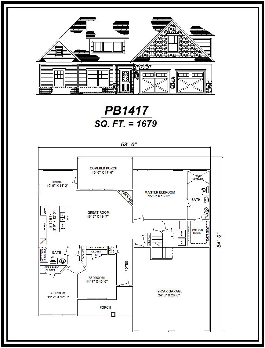 picture of house plan #PB1417