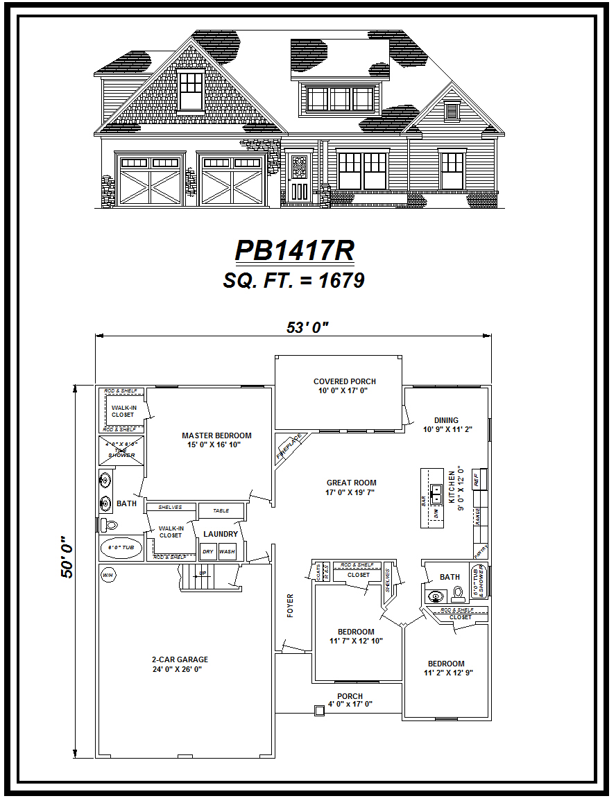 picture of house plan #PB1417R