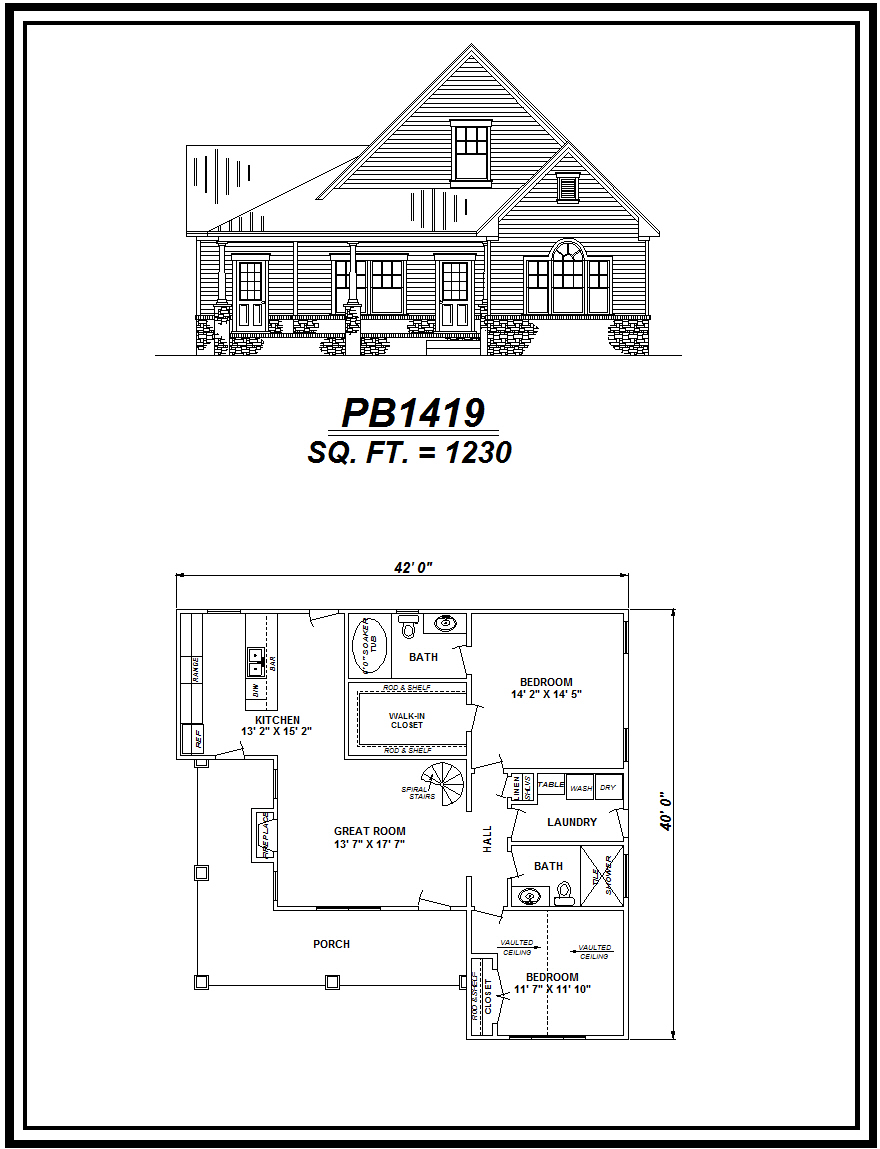 picture of house plan #PB1419