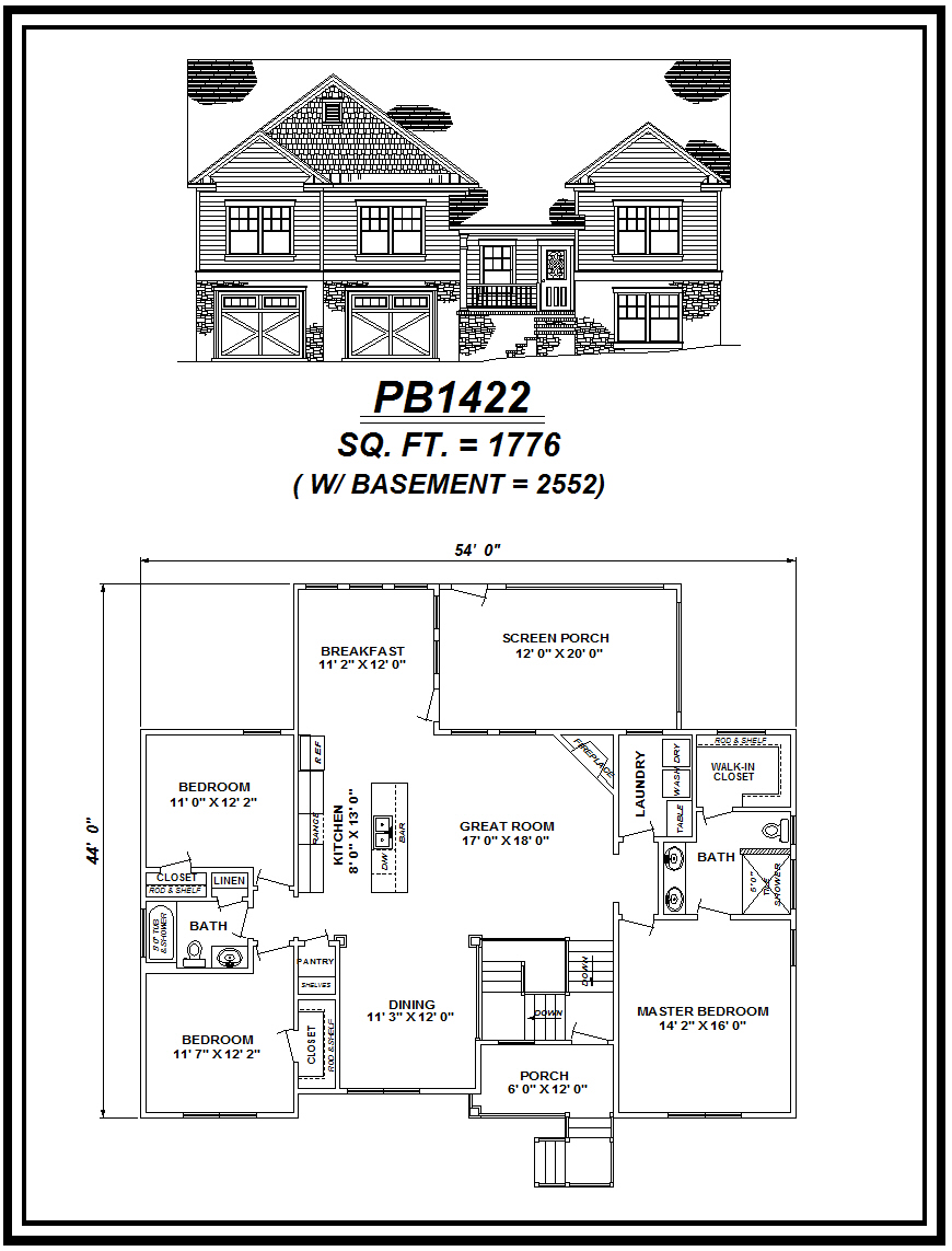picture of house plan #PB1422