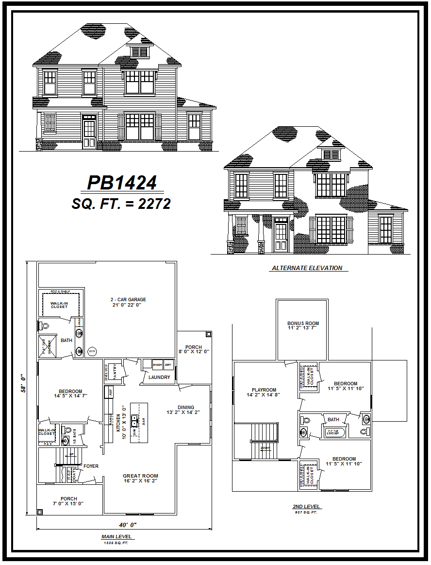 picture of house plan #PB1424