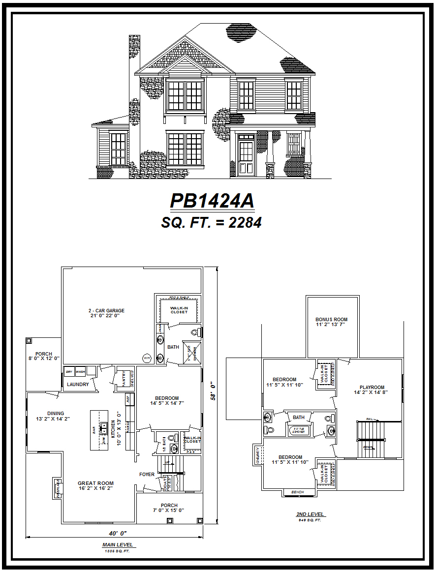 picture of house plan #PB1424A