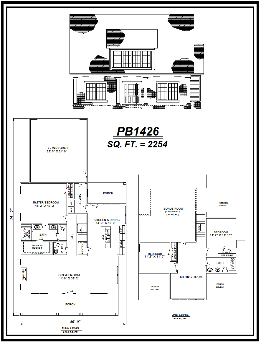 picture of house plan #PB1426
