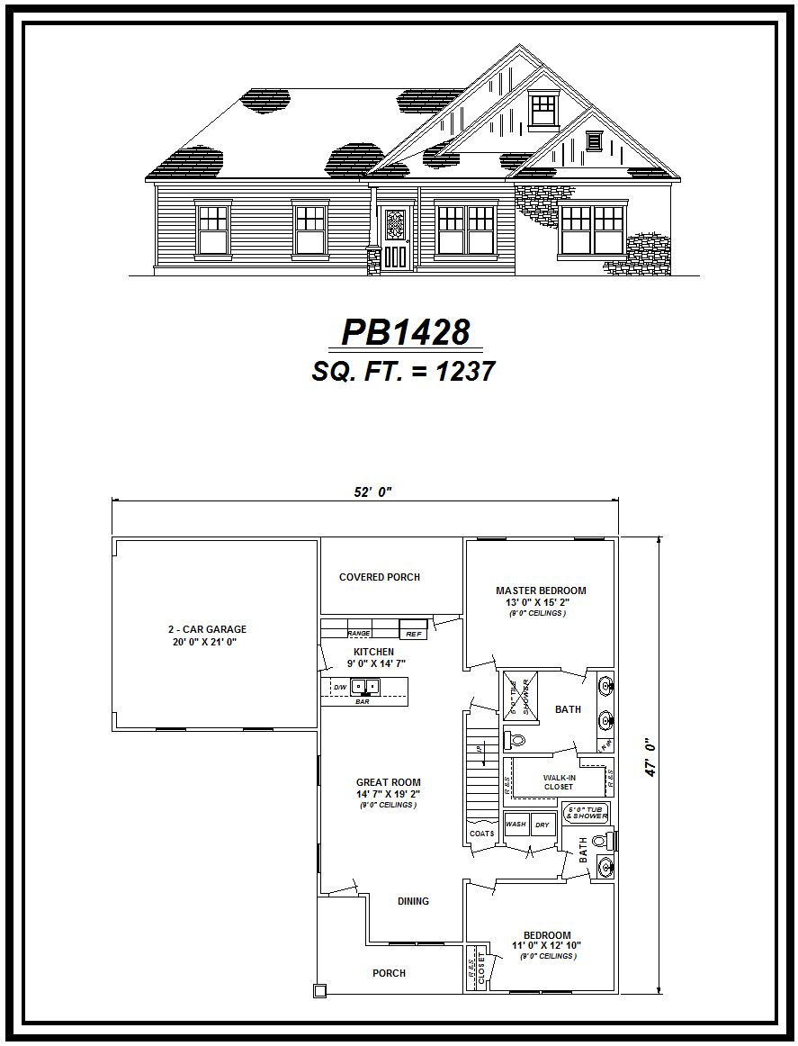picture of house plan #PB1428