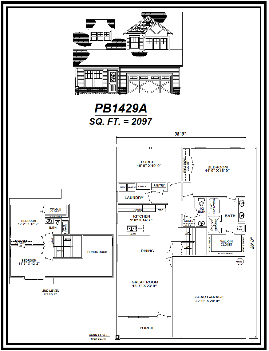 picture of house plan #PB1429A