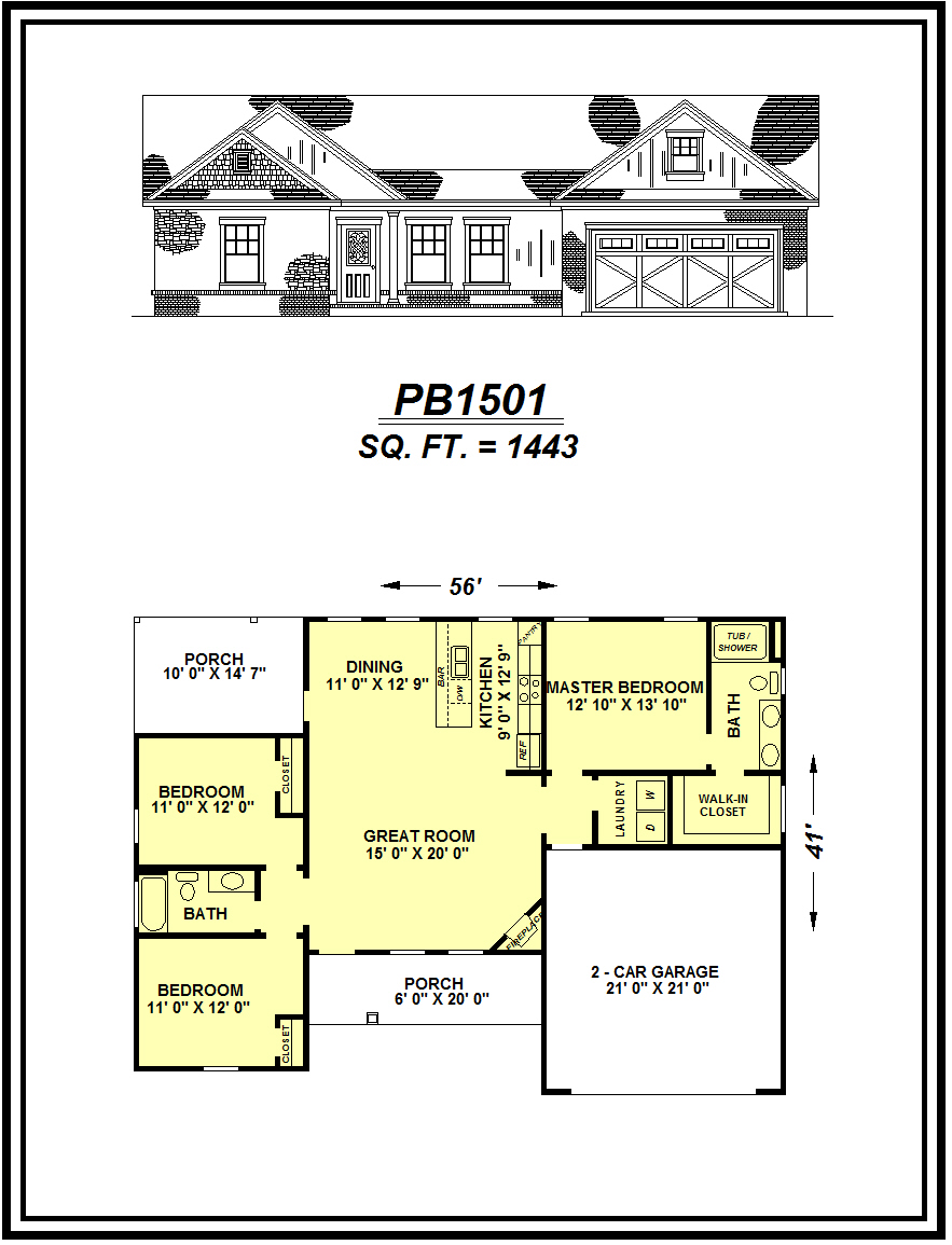 picture of house plan #PB1501