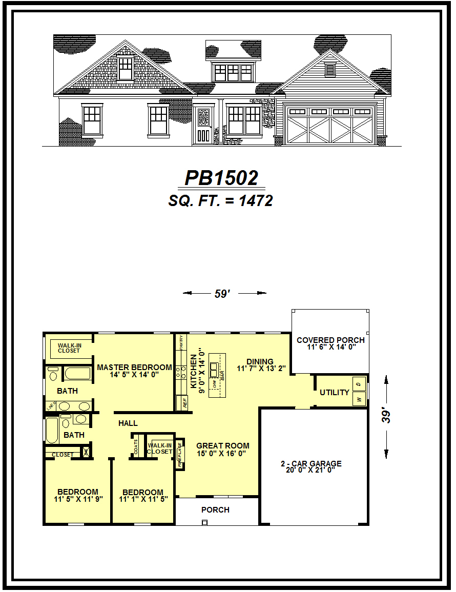 picture of house plan #PB1502