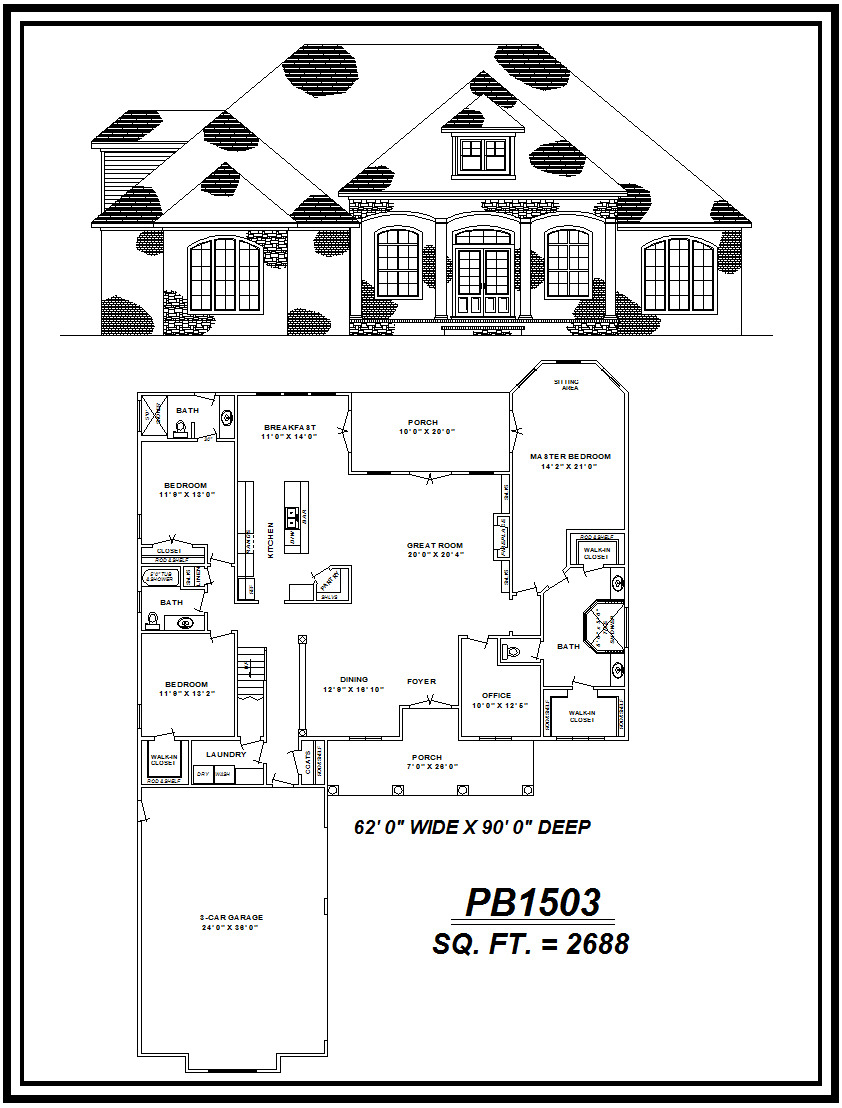 picture of house plan #PB1503