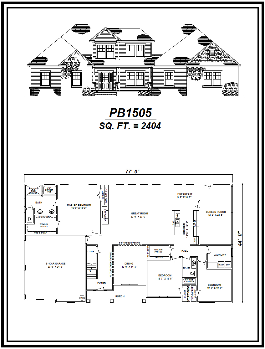 picture of house plan #PB1505
