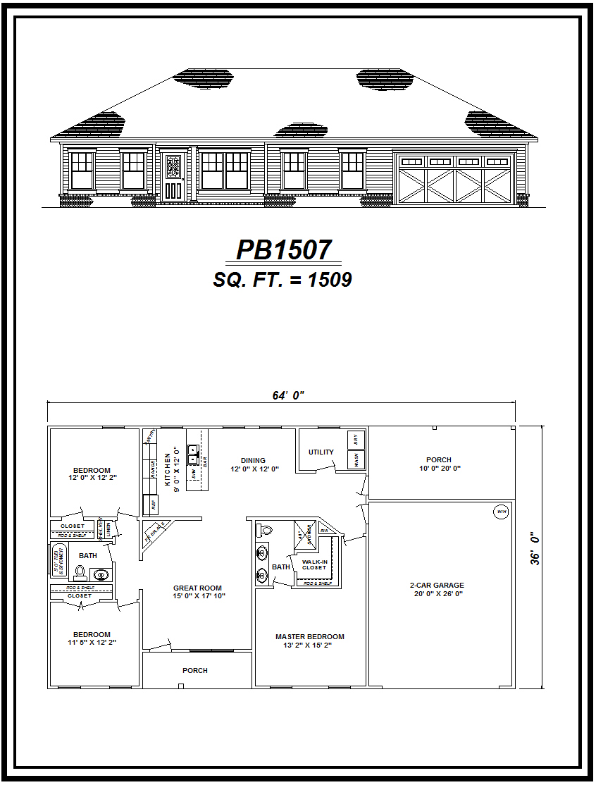picture of house plan #PB1507