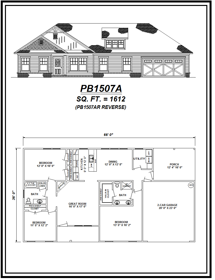 picture of house plan #PB1507A