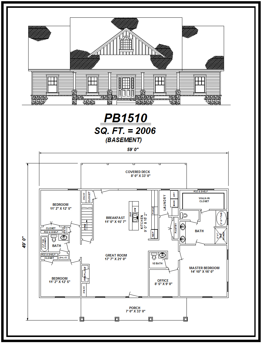 picture of house plan #PB1510