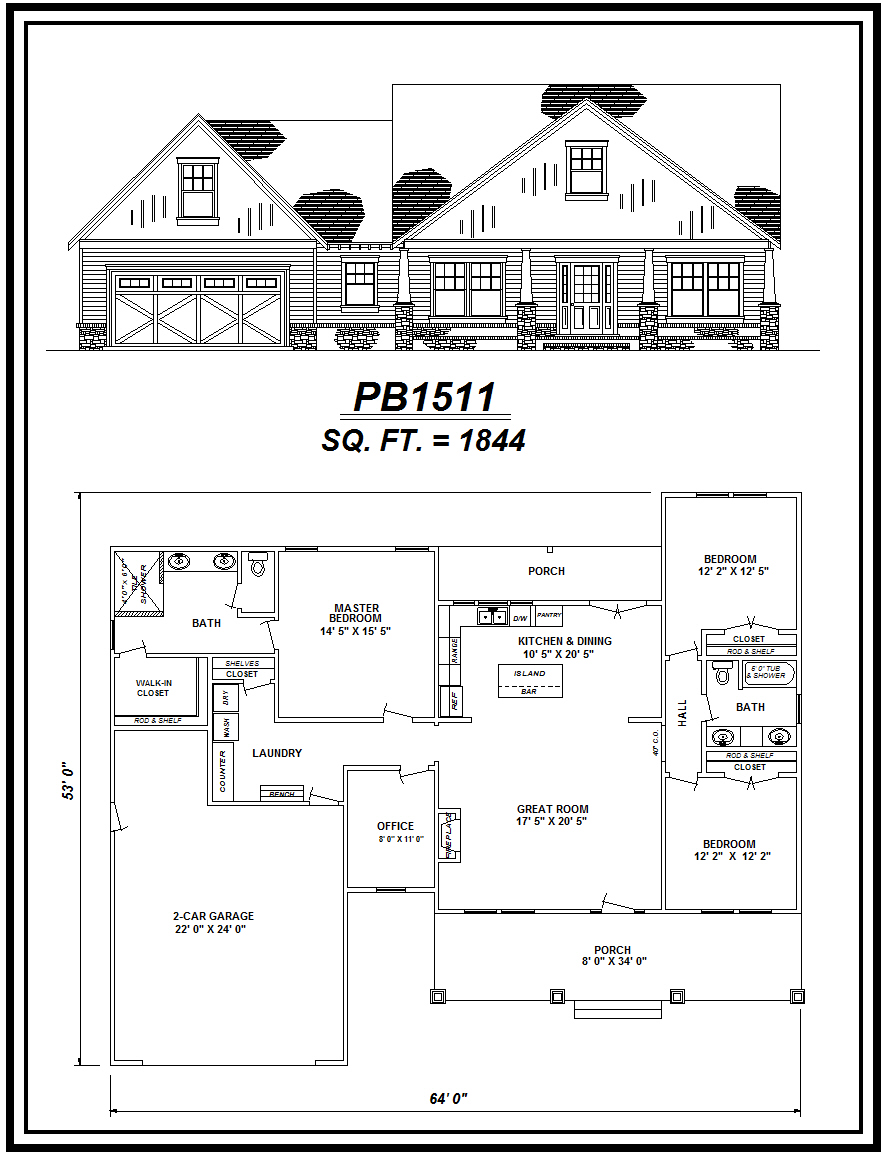 picture of house plan #PB1511