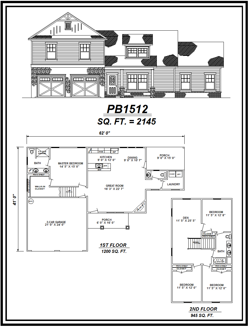 picture of house plan #PB1512