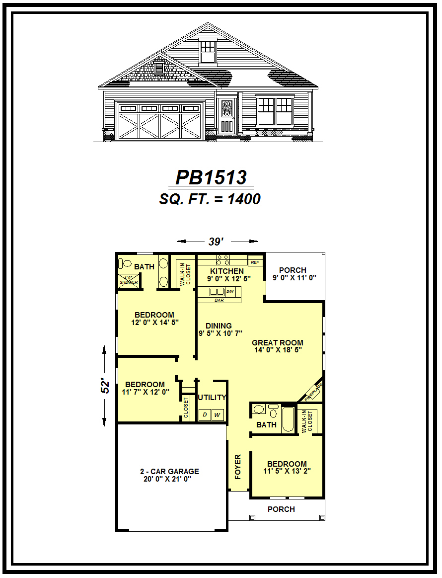 picture of house plan #PB1513