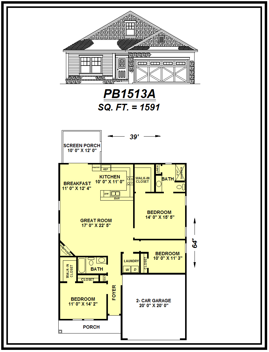 picture of house plan #PB1513A