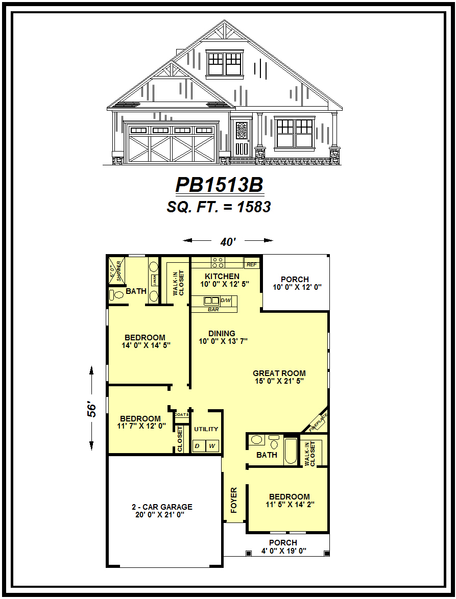 picture of house plan #PB1513B