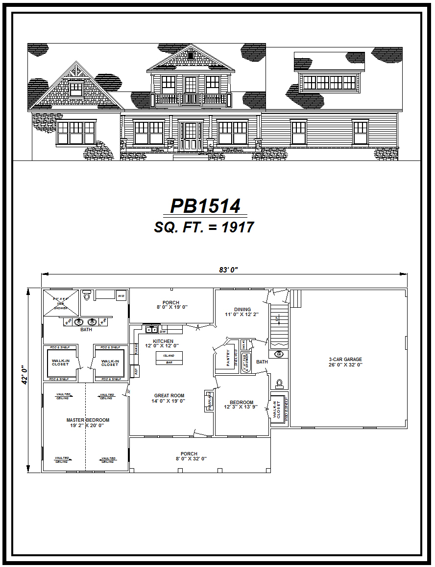 picture of house plan #PB1514