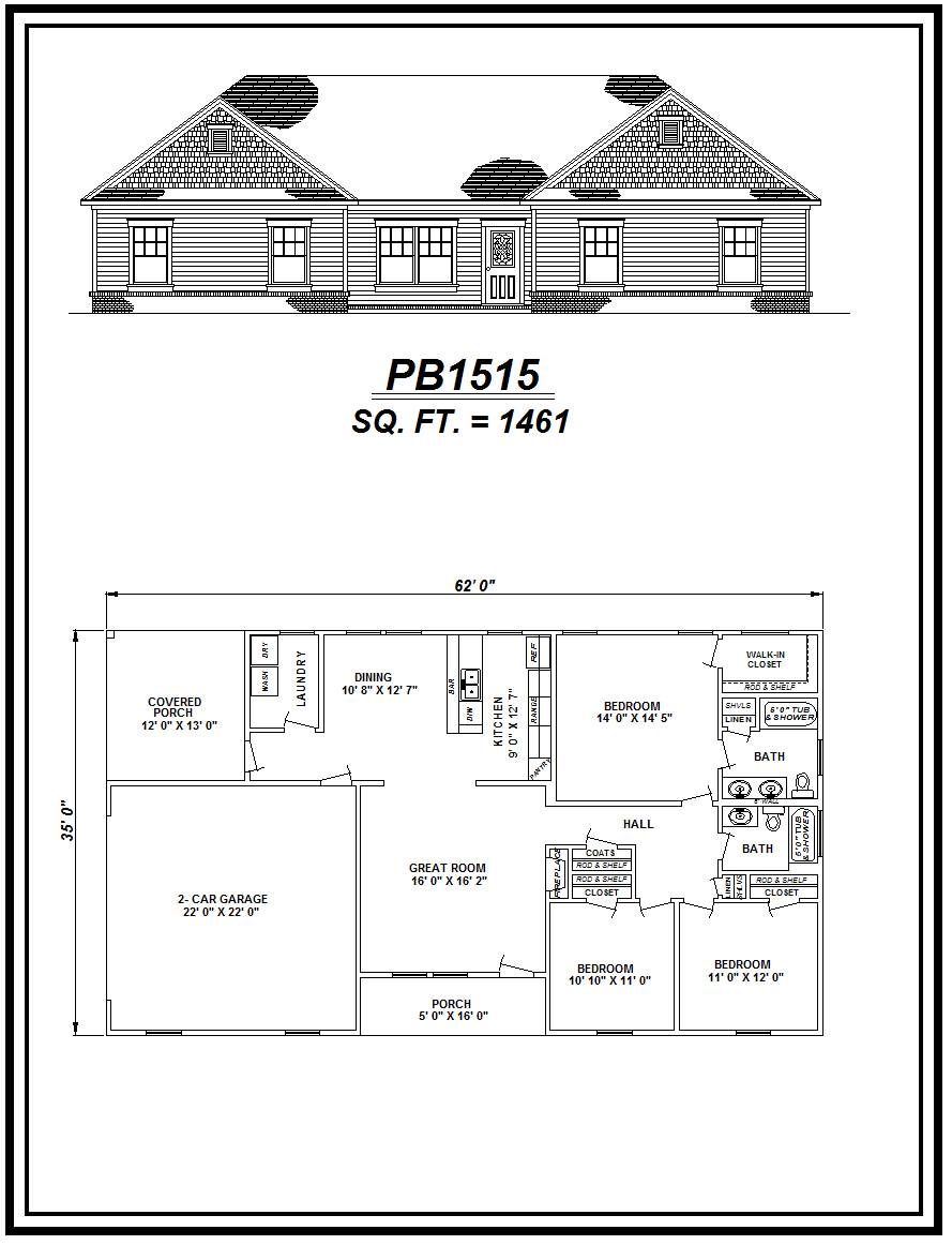 picture of house plan #PB1515
