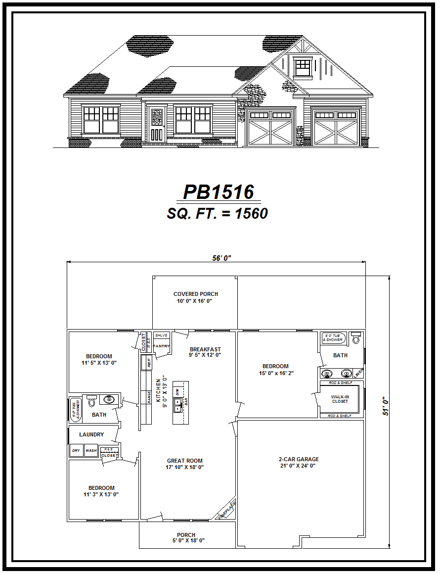 picture of house plan #PB1516