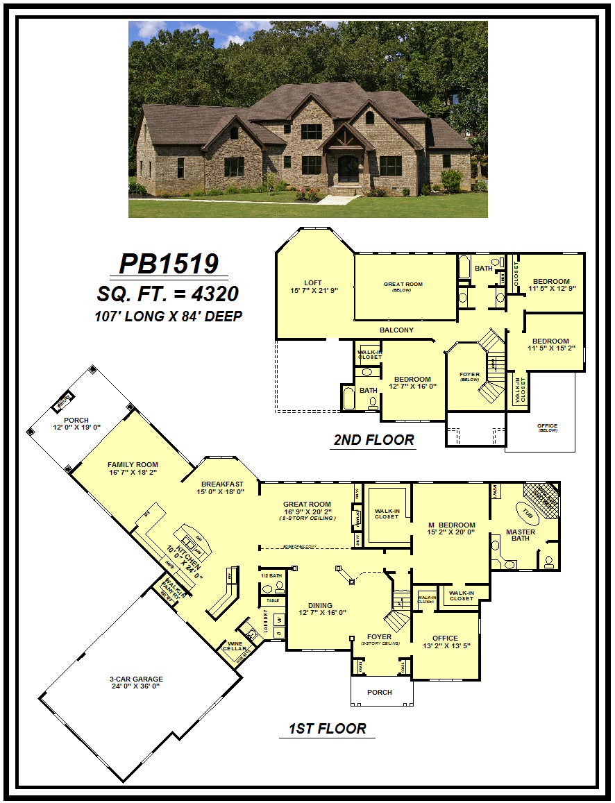 picture of house plan #PB1519