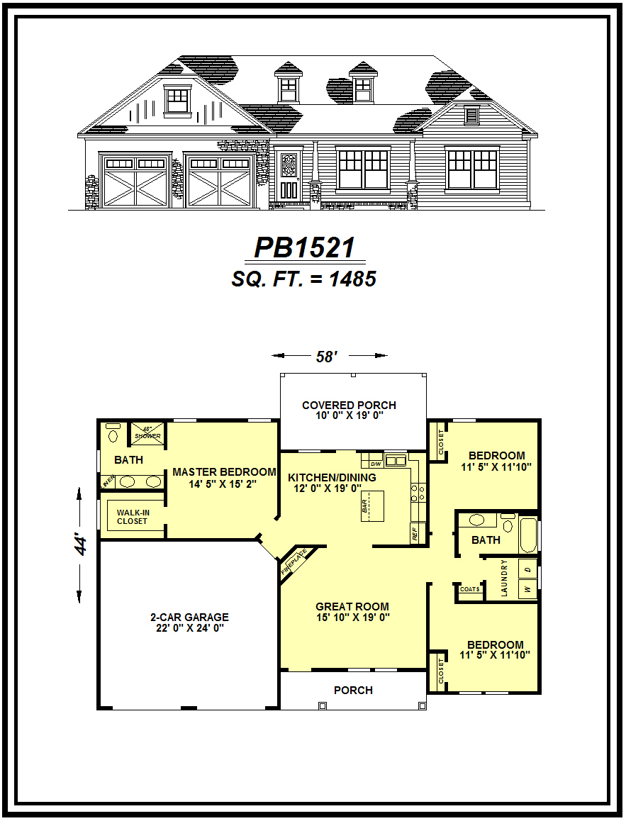 picture of house plan #PB1521