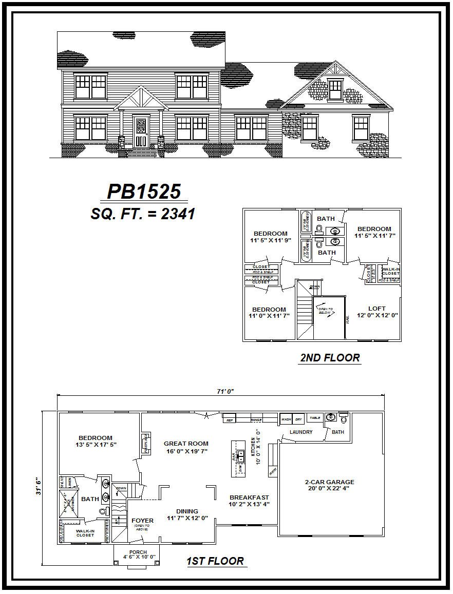 picture of house plan #PB1525
