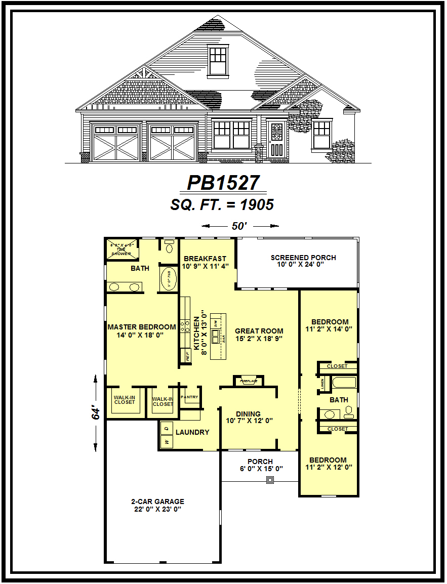 picture of house plan #PB1527