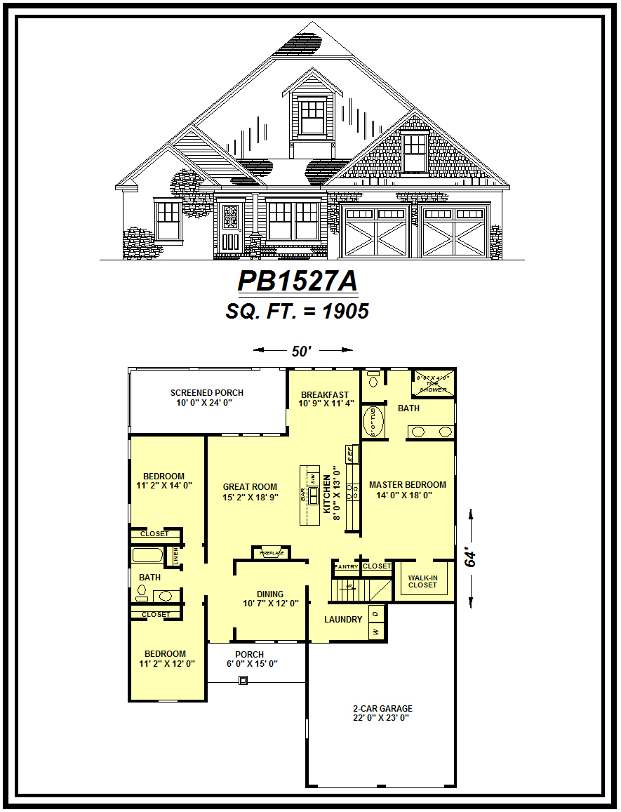 picture of house plan #PB1527A